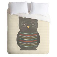 Allyson Johnson Native Owl 2 Duvet Cover | DENY Designs Home Accessories