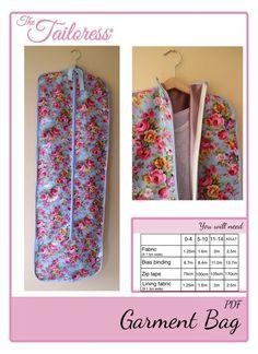 Garment Bag PDF Sewing Pattern Tutorial