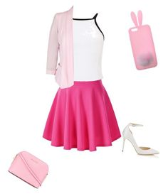 """""""Pink😍😍"""" by black-is-death on Polyvore featuring Miss Selfridge, City Chic, Jimmy Choo and MICHAEL Michael Kors"""
