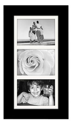 Malden Manhattan Black Wood Matted Picture Frame | Free Shipping