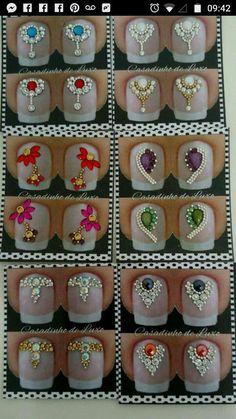 Swarovski Nails, Crystal Nails, Rhinestone Nails, Bling Nails, Nails Now, Gem Nails, Star Nails, Diamond Nail Art, Caviar Nails