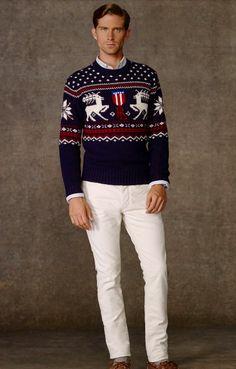 Ralph Lauren Polo Reindeer Intarsia Sweater