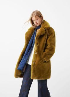 Manteau fourrure synthétique - Manteaux pour Femme | MANGO France