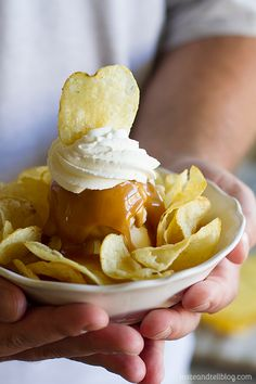 Feeling this recipe for a Mr Potato Head Sundae Recipe from Brooklyn Farmacy and Soda Fountain