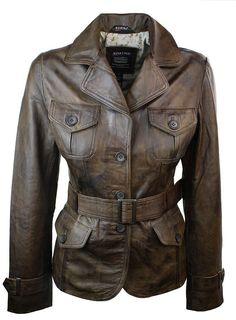 Ladies Women Blazer Smart leather Jacket Vintage Brown. #Women #Blazer #leather #Jacket #Vintage #Brown #shopping #style #fashion