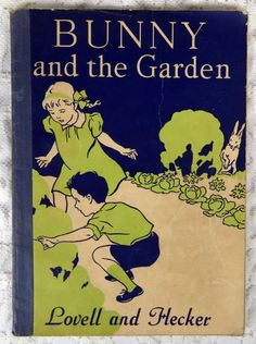 Bunny In the Garden by Lovell and Hecker 1938 A by YzTreasures