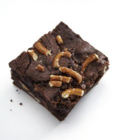 What's better than a fudgy chocolate brownie? One swirled with a buttery dulche de leche and topped with salted pretzels, of course. Tip: These stay fresh for up to five days, so make them ahead to save time.
