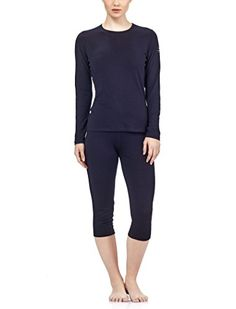 Icebreaker Womens Oasis Long Sleeve Crewe Top Black XLarge * Click image for more details.(This is an Amazon affiliate link and I receive a commission for the sales)