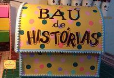 Baú de histórias - DIY Borders For Paper, Ideas Para, Kindergarten, Crafts For Kids, Preschool, Classroom, How To Plan, Education, Teaching