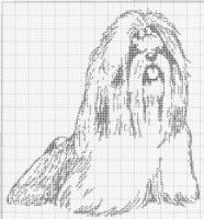 Gallery.ru / Фото #9 - собаки, схемы вышивок из интернета - poodel