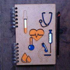 A5 reciclado instrumentos médicos por ADRGB en Etsy