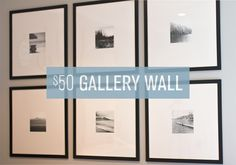 Easy DIY $50 Gallery Wall | Jenna Sue Design Blog