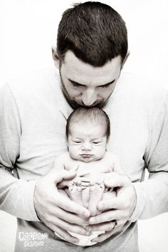 Daddy and newborn baby boy! Newborn Photography Naples, FL