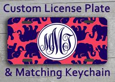 Custom Monogrammed personalized license plate. by AngelsMonograms, $16.95 in my favorite lilly pulitzer print