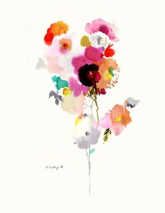 Original watercolor #103 Gorgeous. Again, love the florals and the colors and the relative simplicity of it.