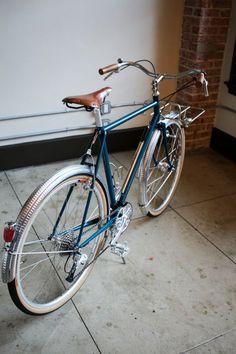 Custom Jerome Cycles City Bike frameset, rack, and stem. Handmade in Los Angeles, CA.