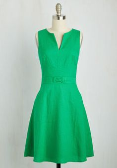 Passionate Professional Dress. Its said that when you love your job, you never work a day in your life - so let this bright green dress highlight your cheery career attitude! #green #modcloth