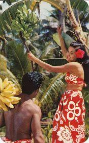 The Daily Postcard: Harvesting Bananas in Hawaii