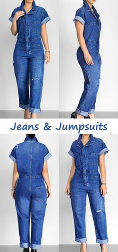 Jeans jumpsuit suits this spring and summer the best! One for all occasions! Never worry about what to wear every single day! #jeans #jumpsuits #womensfashion #streetstyle
