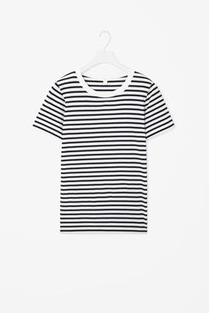 An everyday essential, this simple round-neck t-shirt is cut from pima cotton with an extra-soft feel. A straight fit, it has a ribbed round neckline, short sleeves and neat topstitched edges.