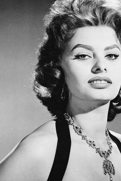 theniftyfifties:  Sophia Loren, 1955