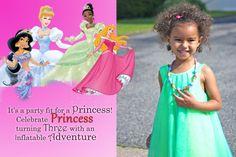 Princess Turns Three - Weather Anchor Mama #invitation