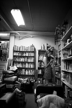 On dreary rainy days I would venture to an old bookstore.  The smell of rain and old books would send me to a peaceful place.  Fortunately, there were many cold, dreary, rainy days!
