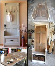 How To Build An Entry Bench From An Old Door Http://theownerbuildernetwork.