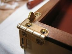 Applying shellac and hardware - the good Dr.& medicine chest part ten. The Good Dr, Wood Jig, Hidden Hinges, Door Handles, Hardware, Woodworking, How To Apply, Good Things, Diy