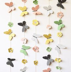 new spring designs in the webshop Butterfly Flowers, Paper Flowers, Butterflies, Butterfly Centerpieces, 2nd Birthday Party Themes, Spring Design, Hanging Ornaments, Paper Crafting, Craft Gifts