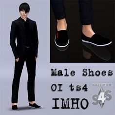 Male Shoes 01 at IMHO Sims 4 via Sims 4 Updates