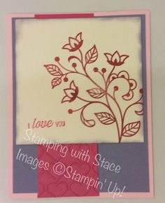 Color Challenge BSU 011817 Stamping with Stace