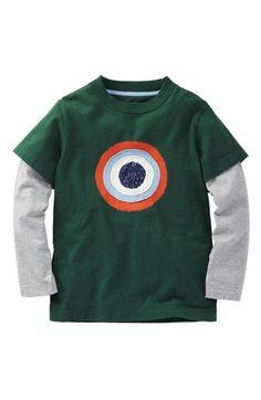 Mini Boden Layered Sleeve T-Shirt