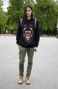 Miles McMillan in Givenchy Rottweiler, Paris | Street Fashion | Street Peeper | Global Street Fashion and Street Style