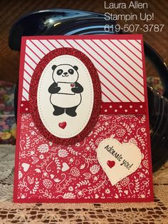 Party Pandas from the Stampin Up! Sale-A-Bration catalog January 3rd 2018.