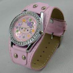 """Come bid on this cute kitty watch. starting soon  Watch movement :Quartz Movement   Watch strap material: Leather   Watch diameter: 1.5""""   Watch strap length: 9.4""""   Watch strap width: 0.7""""   Watch:30g  http://tophatter.com/auctions/15983?campaign=all=internal  @Tophatter"""