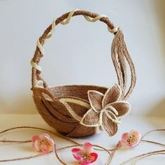 Burlap Crafts, Diy Home Crafts, Felt Crafts, Mason Jar Crafts, Mason Jar Diy, Flower Crafts, Diy Flowers, Rustic Flower Girls, Bobbin Lacemaking