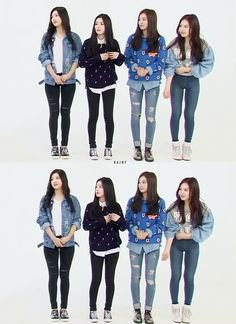 Red Velvet Joy, Irene, Seulgi & Wendy Kpop Fashion 141015 Weekly Idol 2014 | Recorded on 140923