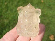 This is a gorgeous natural Quartz Crystal Ganesh statue from Thailand. Ganesh Statue, Natural Crystals, Ganesha, Quartz Crystal, Garden Sculpture, Elephant, God, Detail, Nature