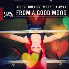 Inspiration Quote: You are only one workout away from a good mood
