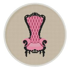 Chair cross stitch pattern Counted cross by MagicCrossStitch