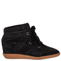 Isabel Marant Bobby Wedge Sneakers Wedge Sneakers, Black Sneakers, Black Shoes, High Top Sneakers, Isabel Marant Bobby, Bobby S, Luxury Shop, Black Suede, High Tops