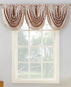 Embellished with a metallic jacquard fish scale design, the Sun Zero Atticus Room Darkening Valance adds a touch of glam to your room. Fully lined, the valance reduces sunlight and noise intrusion. Coordinate with the matching window curtain panel. Valance Curtains, Rod Pocket Curtains, House Styles, Curtains, Panel Curtains, Exclusive Home, Mattress Furniture, Home Decor, Bed Bath And Beyond