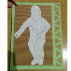 Postal amb dibuix per a l'Imma, la mestra amb la que he estat de pràctiques a P5!