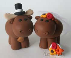 Moose Cake Toppers by fliepsiebieps1, via Flickr @Stacy Sengpiel