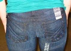 "Mom Jeans and the Dreaded ""Long Butt"": A hilarious tutorial about picking the right jeans."