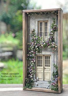 Miniature Door Art ,Diorama , Dollhouse ,Wall Art ,Shadow Box Home Decore Vitrine Miniature, Miniature Rooms, Miniature Crafts, Miniature Houses, Miniature Furniture, Dollhouse Furniture, Furniture Box, Miniature Gardens, Miniature Kitchen