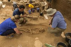 Archaeologists study a century BC burial in the excavation of the Philistine cemetery by the Leon Levy Expedition to Ashkelon. While many bodies were buried alone, some were found with personal items such as thismore. Secrets Of The Bible, Breaking Israel News, Early Christian, Dna Test, Cemetery, The Secret, Discovery, Origins