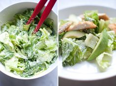 Eggless caesar salad...great for the kids!