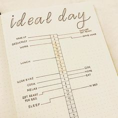 Page idea : Ideal day